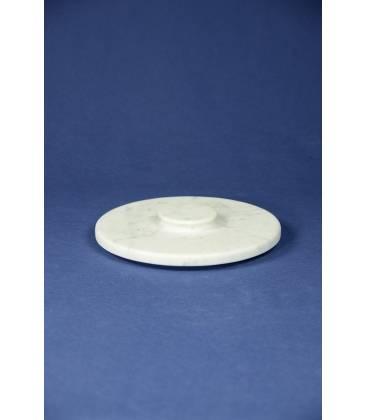 Coperchio marmo bianco Carrara per mortaio diametro 24 cm