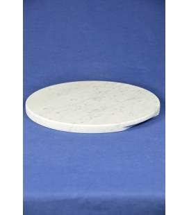 Piano tondo marmo bianco di Carrara diametro 24 cm