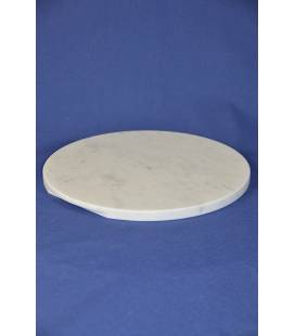 Carrara marble Board diameter 37 cm