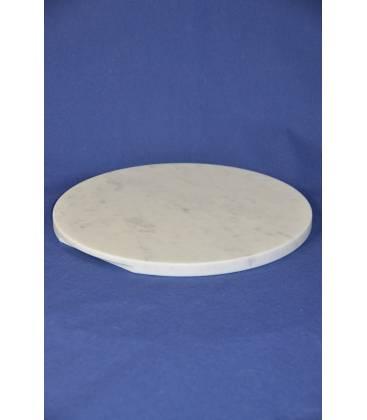 Piano tondo in marmo bianco di Carrara diametro 37 cm