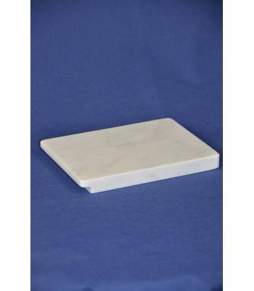 Piano rettangolare in marmo bianco di Carrara