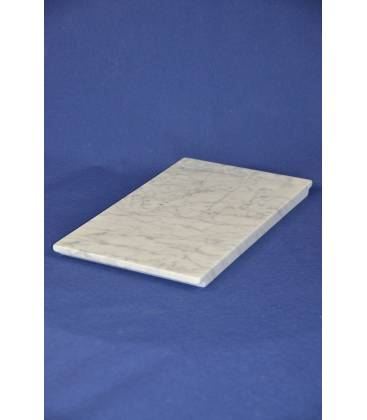 White Carrara marble cutting board