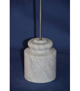 White Carrara marble door stop