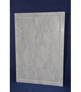 Carrara marble cutting boarad 60x40 cm with feet