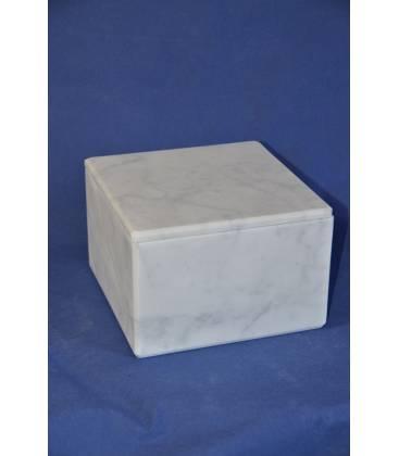 White Carrara marble box big