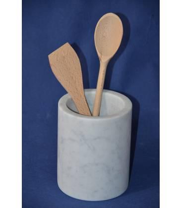 White Carrara marble tool holder
