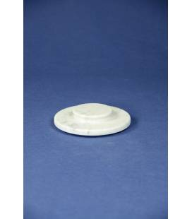 White Carrara marble lid for mortars diameter 16 cm