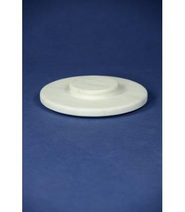 Coperchio marmo bianco Carrara per mortaio diametro 20 cm