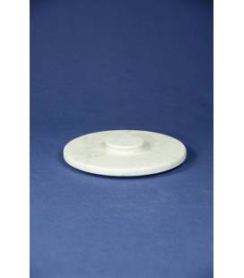 White Carrara marble lid for mortars diameter 24 cm