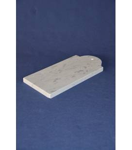 White Carrara marble chopping board