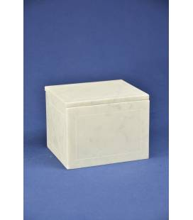 White Carrara marble box small