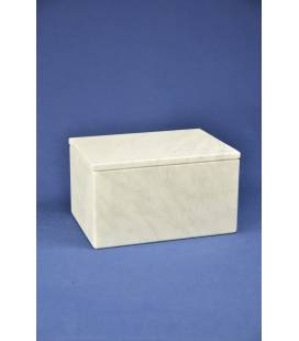 White Carrara marble box big