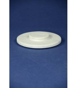 White Carrara marble lid for mortars diameter 18 cm