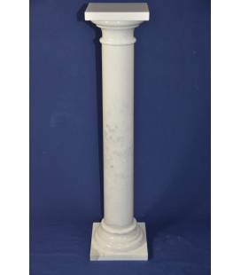 White statuary marble column