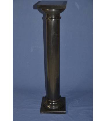 black Belgio marble column