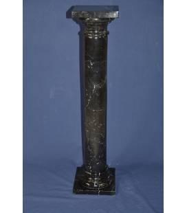 black Marquinia marble column